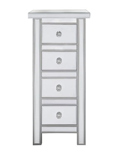 Classic Small Mirrored Chest Of Drawers