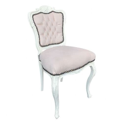 Cream With Cream Velvet Salon Chair