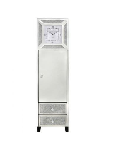 Diamante Crystal Bricks Mirrored Grandfather Clock