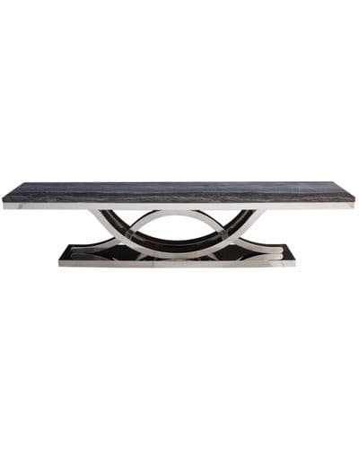 Exige Grey Marble And Chrome Entertainment Unit