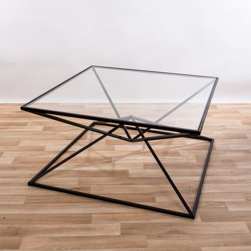 Gin Shu Parisienne Black Metal Coffee Table
