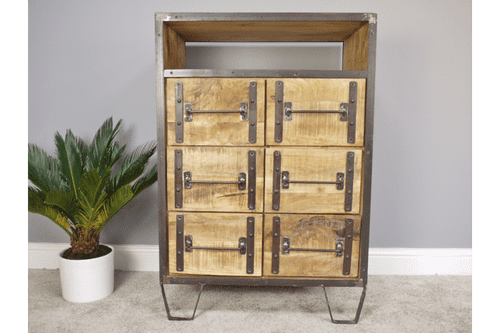 Industrial Metal Cabinet With 6 Drawers