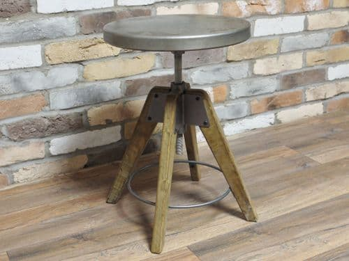 Industrial Rustic Style Small Wooden Stool