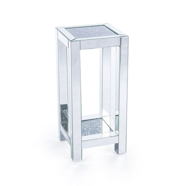 Mirrored Venetian Crushed Diamond Crystal Large Occasional Side Table