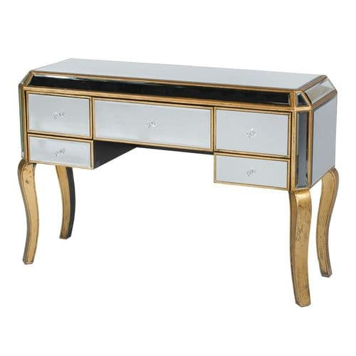 Mirrored Venetian Dressing Table - Gold