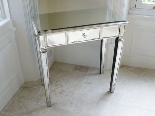 Mirrored Venetian Glass Dressing Table - Silver