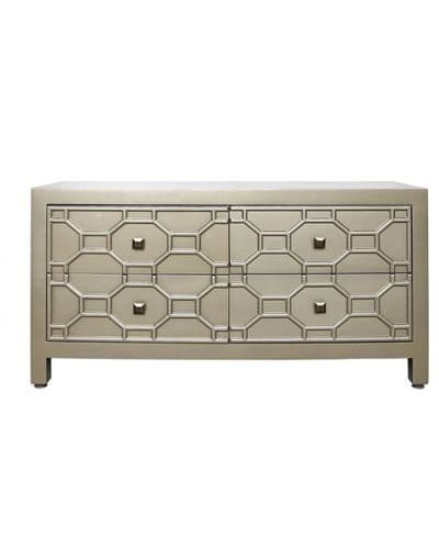 Modus Gold Geometric Wood Entertainment Unit