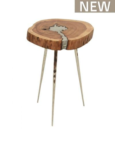 Oxia Rustic Wood Occasional End Table