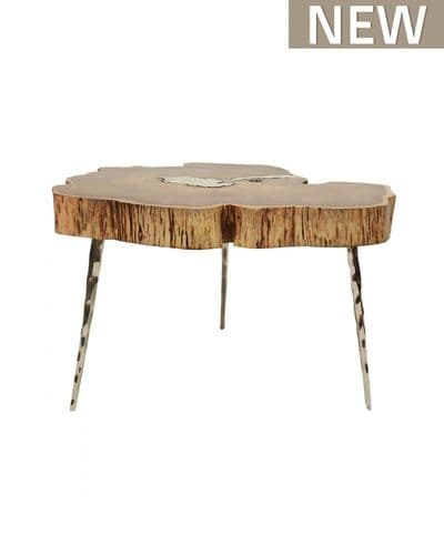 Oxia Rustic Wood Small Coffee Table