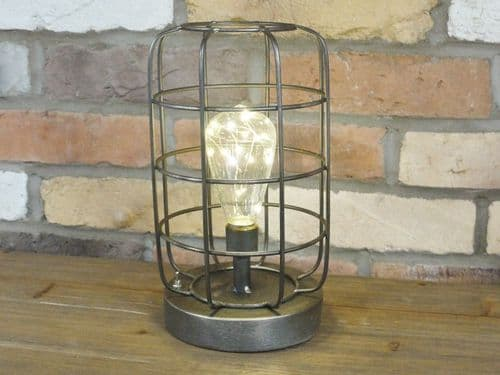 Rustic Industrial Battery Powered Light