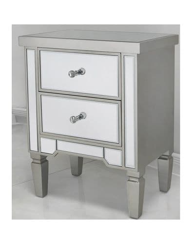 Sigma Mirrored Bedside Cabinet
