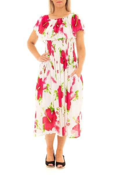 Floral  printed frill dress
