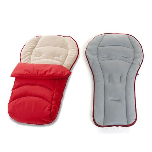 Hauck CosyToe 2 Way Footmuff - Red