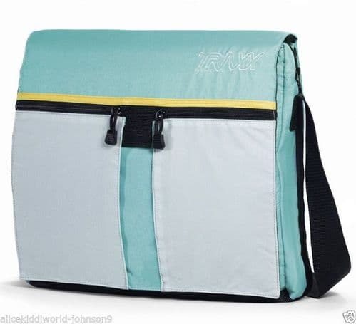 New Hauck TRAXX Baby Changing chang bag Diaper+free Mat in turquoise blue/grey+