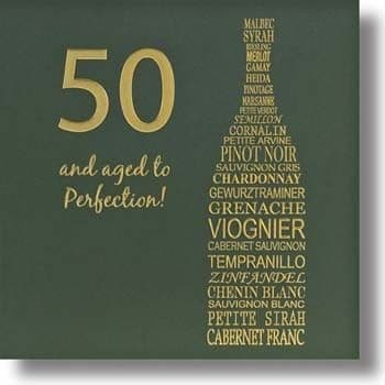 50 Aged to Perfection Birthday Card