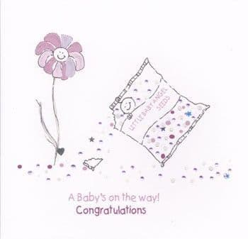 A Baby's On The Way Greetings Card