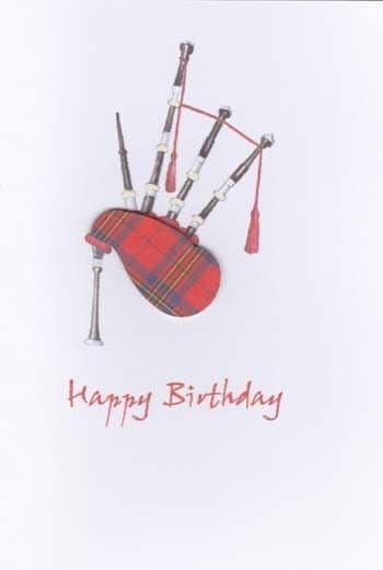 Bagpipes Birthday Card