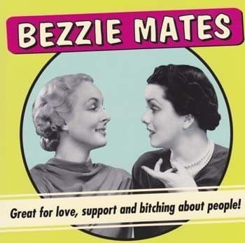 Bezzie Mates Greetings Card
