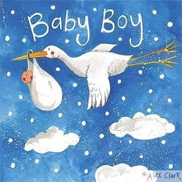 Boy on Delivery Greetings Card