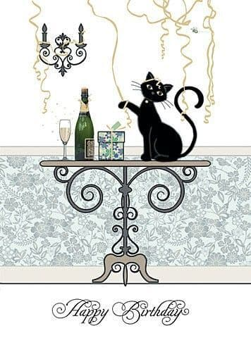 Champagne Table Birthday Card