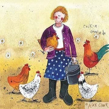 Chicken Lady Greetings Card