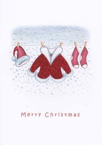 Clothes on the Line Greetings Card