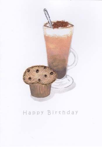 Coffee and Muffin Birthday Card