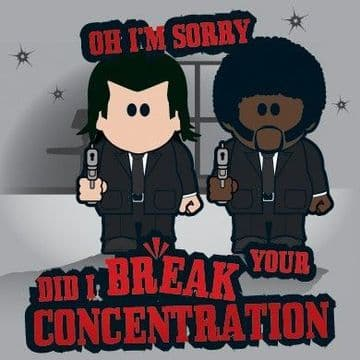 Did I Break Your Concentration? Greetings Card