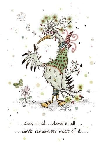 Done it all Bird Greetings Card