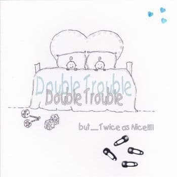 Double Trouble Greetings Card