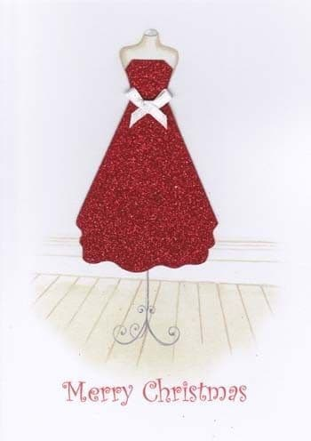 Dress and Bow Greetings Card