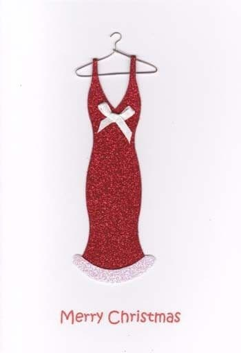 Dress and hanger Greetings Card