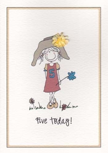 Five Today (Female) Birthday Card