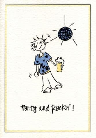 Forty and Rockin' Birthday Card