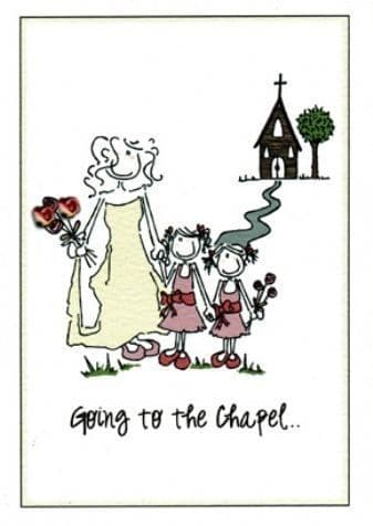 Going to the Chapel Greetings Card