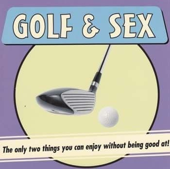 Golf and Sex Greetings Card