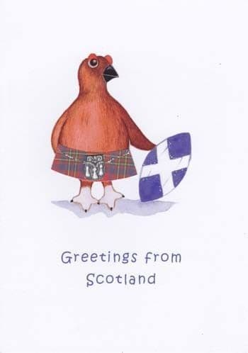 Greetings from Scotland Greetings Card