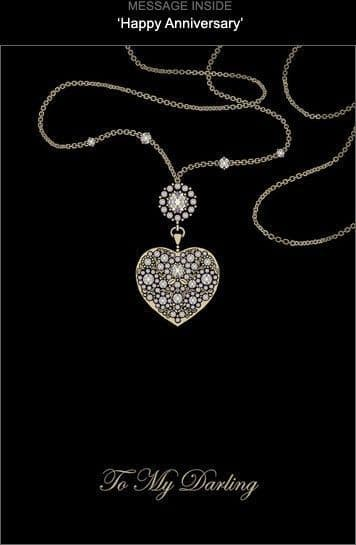 Heart Necklace Greetings Card