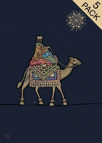 King on a Camel 5pk Greetings Card