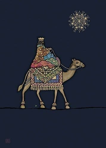 King on a Camel Greetings Card