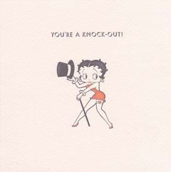 Knock-Out Greetings Card