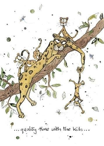 Leopard family Greetings Card