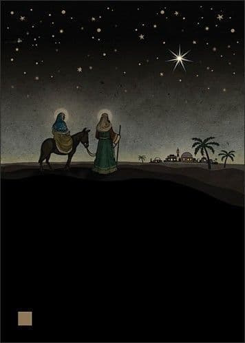 Mary and Joseph Greetings Card