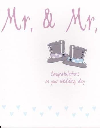 Mr and Mr Greetings Card