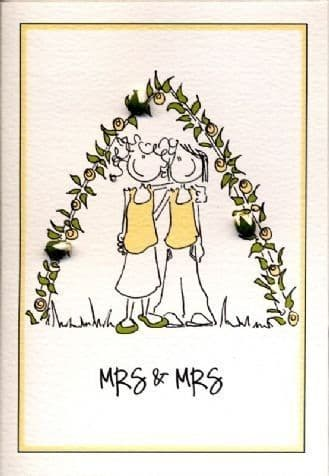 Mrs and Mrs Greetings Card