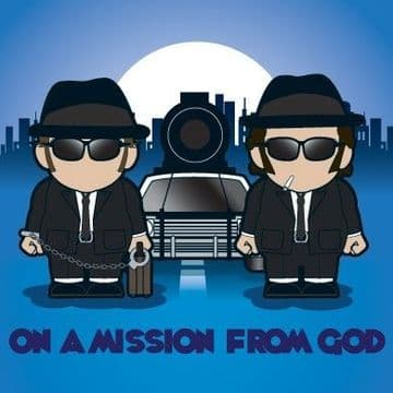On A Mission From God Greetings Card
