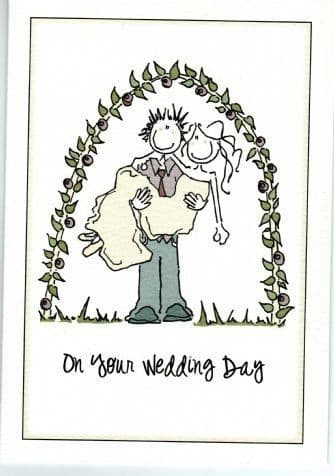 On Your Wedding Day Greetings Card