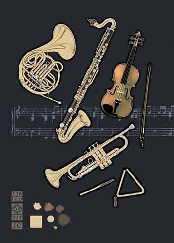Orchestral Greetings Card