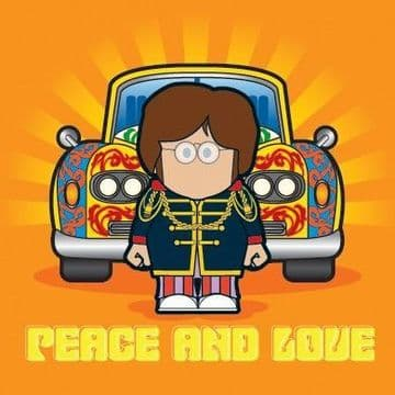 Peace and Love Greetings Card