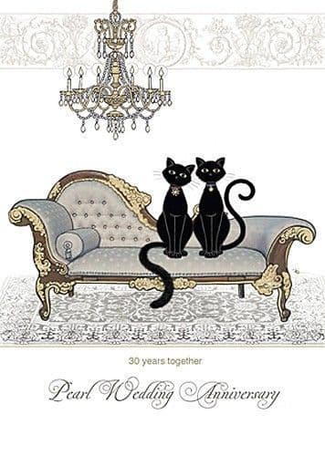 Pearl Anniversary Chaise Greetings Card